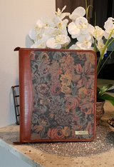 Floral Tapestry LEATHER Day Runner Planner BINDER in CyFair, Texas