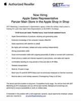 Apple Vendor Rep needed for Panzer Kaserne  Shop in Shop at the PX in Ramstein, Germany