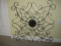 """Wrought Iron scroll work with medallion  30"""" X 30"""" in Yorkville, Illinois"""