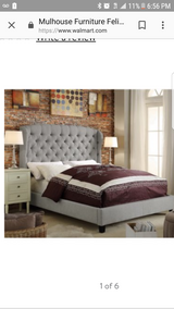 King bedframe with serta perfect king matress set in Travis AFB, California