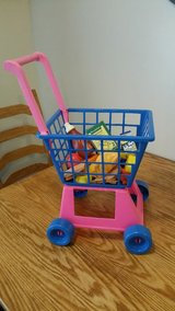 Play Grocery Cart with food Plus Box of food and dishes in Tinley Park, Illinois