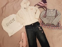 6 pieces girls Clothes.  2T. Jacket, Jeans, Tops, Hat in Ramstein, Germany