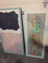 Giraffe Picture and matching chalk/tack board in Fort Carson, Colorado