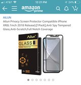 iPhone XR Privacy Screen Protector (Brand New) in Vista, California
