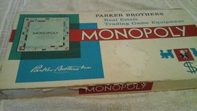Vintage 1960's  Monopoly Game in Lockport, Illinois