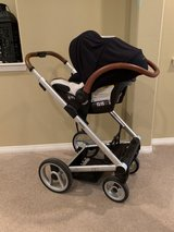 Mutsy Igo Stroller, car seat and bassinet in Temecula, California