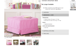 Pottery Barn Teen Ottoman in Beale AFB, California