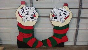 Dalmation in stocking in Kingwood, Texas