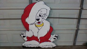 Dalmation  in Santa suit in Kingwood, Texas