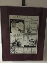 Vintage Army Paratrooper Ink drawing - framed poster in Fort Meade, Maryland