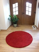 STOENSE IKEA red carpet round 130cm diameter in Ramstein, Germany