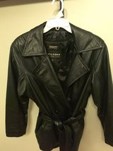 Womens Black WILSON'S Leather Jacket Removable Thinsulate Lined Coat, Belt, Small,  NWOT in Naperville, Illinois