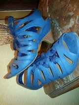 Blue heels with laces in Ramstein, Germany