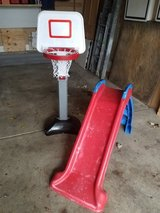 Little Tikes slide and Grow with me hoop in Joliet, Illinois