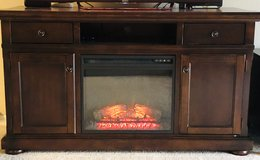 ASHLEY- TV stand with Fireplace Incert. in Elizabethtown, Kentucky