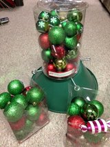 Christmas tree stand & ornaments in Dover AFB, Delaware