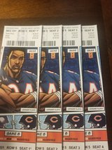 4 tickets Bears vs Vikings Sunday night game in St. Charles, Illinois