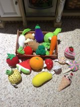 Cloth play food 22 pieces plus basket in Clarksville, Tennessee
