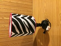 Lamp - pink and zebra stripped in Lockport, Illinois