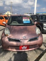 FRESH 2008 Nissan March - Pink - Cleqan One Owner - Low KMs - TINT - Compare & $ave in Okinawa, Japan