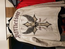 Limited Edition Affliction white leather jacket in Hohenfels, Germany