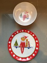 Pottery Barn Kids Elf on a Shelf Plate and Bowl in Chicago, Illinois