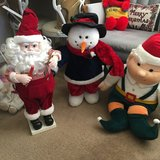 Large Santa, snowman and Elf in Fairfield, California