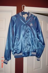Mens Retro Blue Starter Jacket Size L in Naperville, Illinois