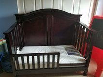 Crib to full bed set with toddler mattress in Aurora, Illinois