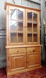 Solid Wood China Cabinet comes in Two Pieces in Ramstein, Germany