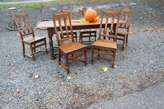 solid tiger oak country house dining room set in Ramstein, Germany