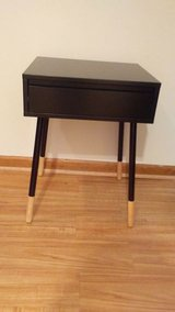 Black Two Toned 1 Drawer Side Table(New) in Schaumburg, Illinois