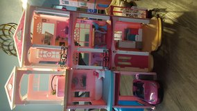 Barbie dream house  convertible included!! in Lockport, Illinois