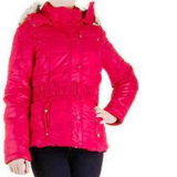 NEW Red Faux Fur Hooded Jacket in Ramstein, Germany