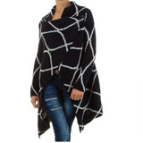 New Navy Blue or Burgundy Stripe Poncho in Ramstein, Germany