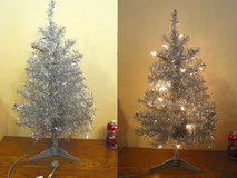 24in Silver Lighted Christmas Tree in Bartlett, Illinois