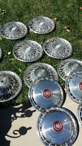 about 20 older cadillac hubcaps. Very cool. in Vacaville, California