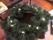 Lighted Faux Wreath in St. Charles, Illinois