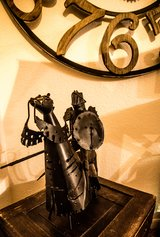 Retro Classic Handmade Metal Joust Soldier Home Office Decor Mid Evil in The Woodlands, Texas