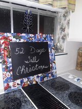 I have 2 chalk boards with mod podge Xmas material in Conroe, Texas