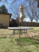 Outdoor Table Black with Bubble Glass in Alamogordo, New Mexico