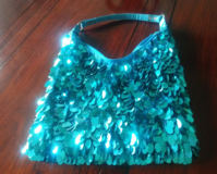 Sequin Disk Beaded Purse in CyFair, Texas