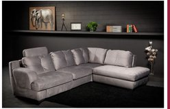 Gent Sectional in material Diamond Grey including delivery - Recliner on right or left side in Ansbach, Germany