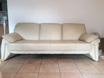 CREAM  LEATHER COUCH in Stuttgart, GE