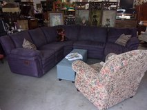 Five Piece Violet Ashley Furniture Sectional With Recliners and Chaise Lounge in Fort Riley, Kansas