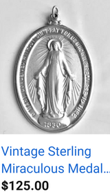 Vintage Sterling Miraculous Medal in Alamogordo, New Mexico