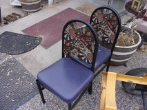 Metal Chair with Pad in Fort Riley, Kansas