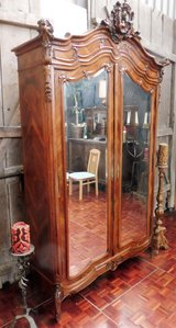 Antique Entryway  or Bedroom Closet with Dual Mirrors in Ramstein, Germany