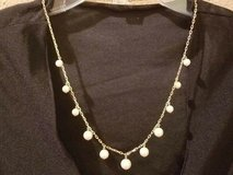 """$3.00 Gold Chain - Champaign Pearl Beaded Necklace  Length 12""""  PreWorn, LOOKS NEW - EXcellent C... in Leesville, Louisiana"""
