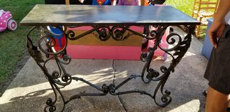 Wrought Iron Sofa/Entry/TV Stand/Table in Spring, Texas